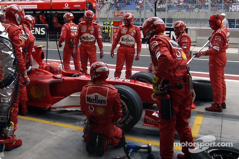 Boxenstopp: Michael Schumacher, Ferrari F2004
