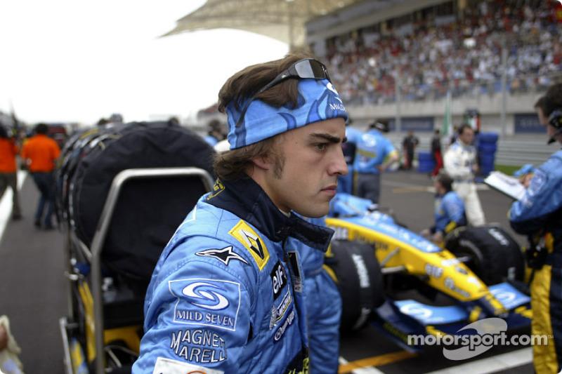 Startaufstellung: Fernando Alonso, Renault