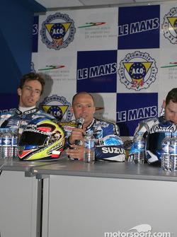 Les vainqueurs Stéphane Chambon, Keiichi Kitagawa et Warwick Nowland