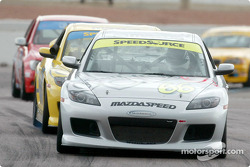 #66 SpeedSource Mazda RX-8: Marcelo Abello, Benoit Theetge