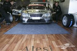 Jean Alesi in garage area