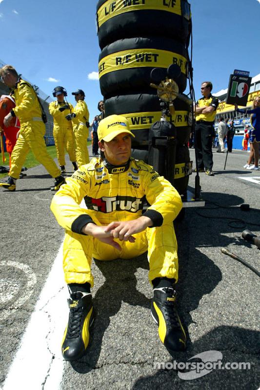 Giorgio Pantano sur la grille de départ