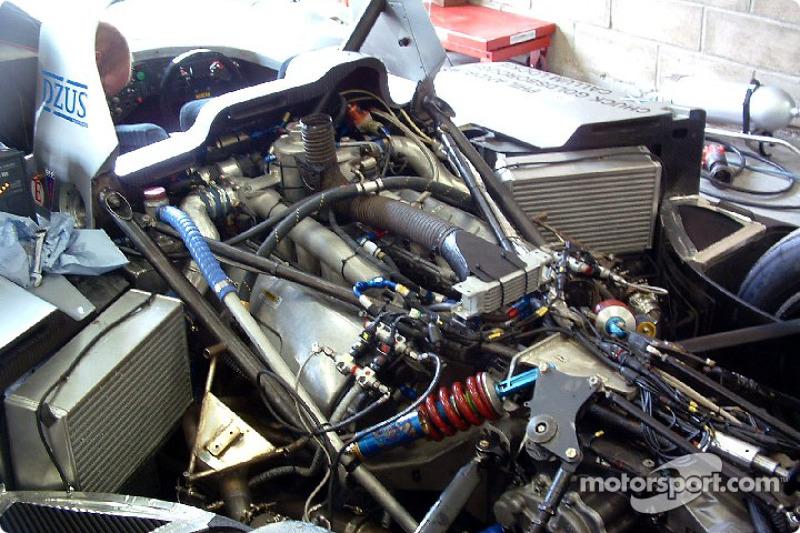 #10 Taurus Sports Racing Lola Caterpillar diesel engine at Preliminary testing