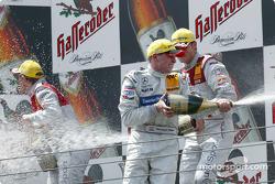 Podium: champagne for Christijan Albers, Mattias Ekström and Martin Tomczyk