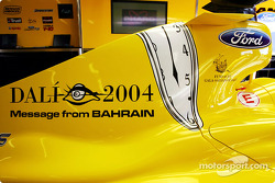 The message from Bahrain on the Jordan is a tribute to Spanish artist Salvador Dali