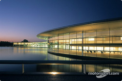 Evening view of the McLaren Technology Centre