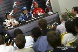 Press conference: race winner Jarno Trulli, Jenson Button and Rubens Barrichello