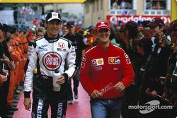 Jenson Button et Michael Schumacher