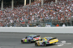Kyle Busch and Derrike Cope
