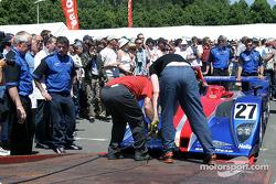 Intersport Racing arrives at scrutineering