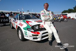 Juha Kankkunen with his 1993 Toyota Celica