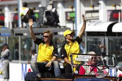 Desfile de pilotos: Nick Heidfeld y Giorgio Pantano