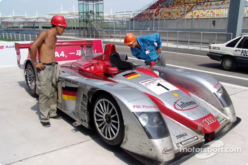 Audi R8 on the new Shanghai International Circuit