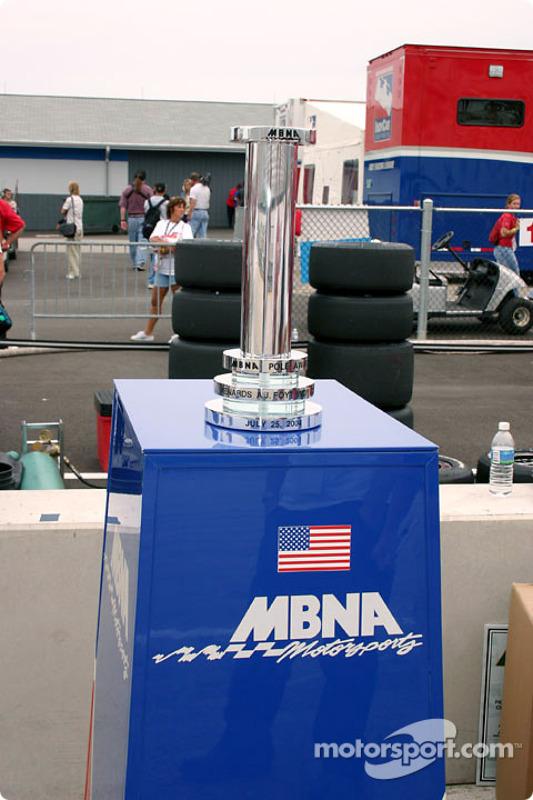 Le MBNA pole award