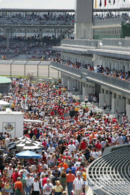 Des fans à Indianapolis