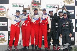 GS podium: race winners Blake Rosser and Kelly Collins, with Larry Rehagen, Ken MacAlpine, Dean Martin, and Mike Cronin, Stu Hayner, Boris Said