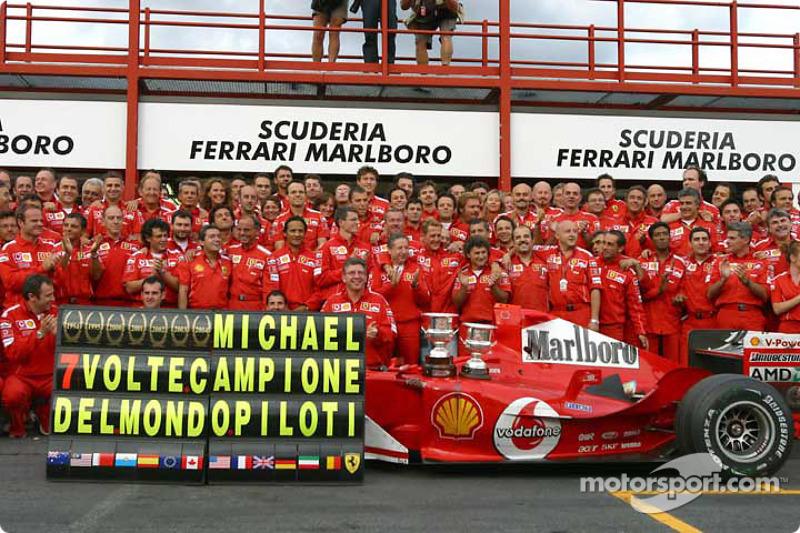 Michael Schumacher (1994, 1995, 2000, 2001, 2002, 2003, 2004)