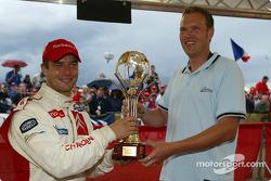 Sébastien Loeb receives driver of the year award from 'Motor Sport Aktuell' magazine