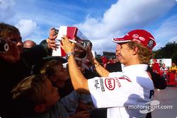 Ryan Briscoe with fans