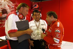 Hirohide Hamashima and Jean Todt