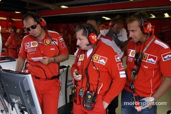 Jean Todt, Luca Colajanni and Luca Badoer
