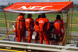 Holden Racing Team's new F1 style pit box
