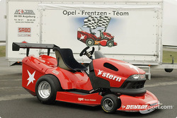 Heinz-Harald Frentzen's mean machine for the lawnmower competition