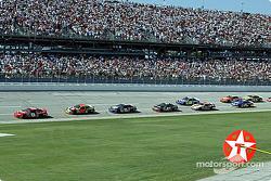 Dale Earnhardt Jr. leads Elliott Sadler