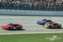 Dale Earnhardt Jr. leads Jimmie Johnson and Elliott Sadler