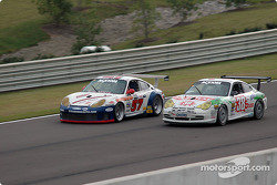 #57 Stevenson Motorsports / Auto Assets Porsche GT3 RS: Chip Vance, John Stevenson, #38 TPC Racing Porsche GT3 Cup: Marc Bunting, Andy Lally