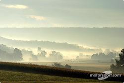 The serine Pennsylvania countryside near the track