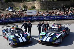 #60 Matech Competition Ford GT: Thomas Mutsch, Romain Grosjean, Jonathan Hirschi, #61 Matech Competition Ford GT: Natacha Gachnang, Rahel Frey, Cyndie Allemann