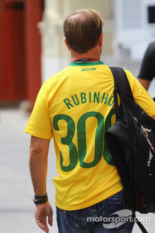Rubens Barrichello, Williams F1 Team in Braziliaans voetbalshirt