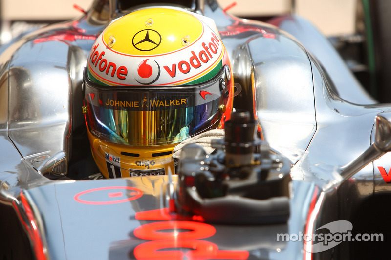Third place in qualifying Lewis Hamilton, McLaren Mercedes
