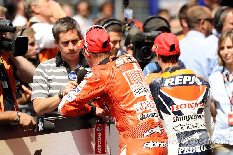 2de plaats Dani Pedrosa, Repsol Honda Team, 3de Casey Stoner, Ducati Marlboro Team