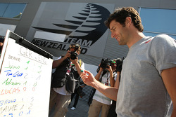 Mark Webber, Red Bull Racing, The drivers predict the score for the England v Germany football match