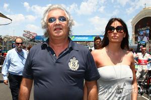 Flavio Briatore with Elisabetta Gregoraci, Wife of Flavio Briatore