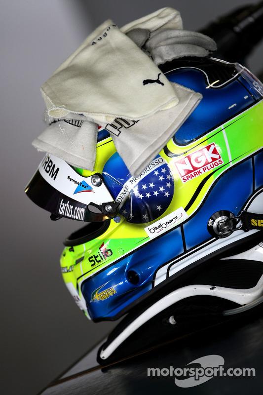 De helm van Augusto Farfus, BMW Team RBM, BMW 320si