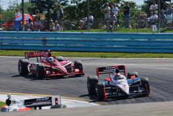 Helio Castroneves, Team Penske, Dario Franchitti, Target Chip Ganassi Racing