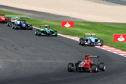 James Jakes leads Roberto Merhi and Ivan Lukashevich