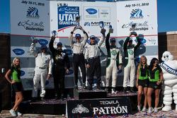 PC klasse podium: winnaars Scott Tucker en Christophe Bouchut, 2de Gunnar Jeannette en Christian Zugel, 3de Alex Figge en Max Hyatt
