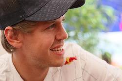 Sebastian Vettel, Red Bull Racing, meets the media