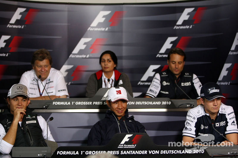 Nico Rosberg, Mercedes GP, Norbert Haug, Mercedes, Motorsport chief, Monisha Kaltenborn, Managing di