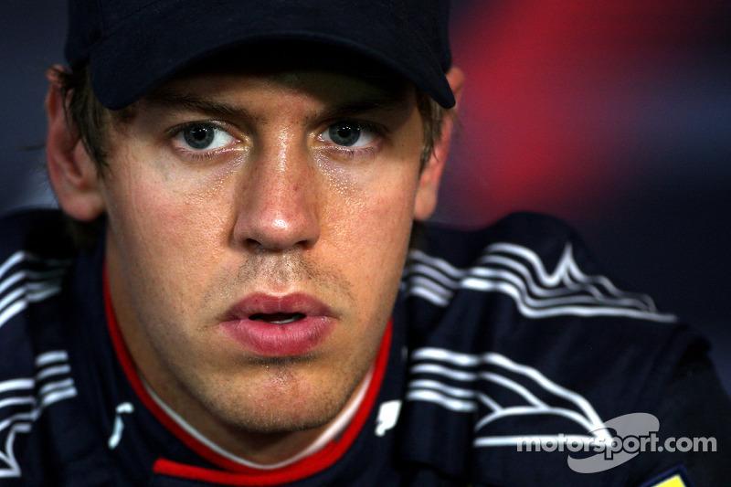 Persconferentie: polezitter Sebastian Vettel, Red Bull Racing