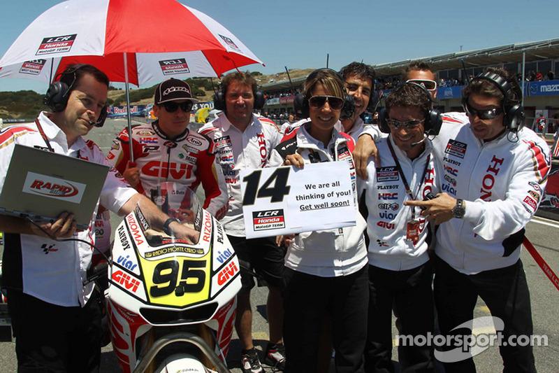 Roger Lee Hayden, LCR Honda MotoGP y un mensaje para Randy De Puniet, LCR Honda MotoGP