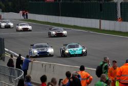 #10 Hexis AMR Aston Martin DB9: Clivio Piccione, Jonathan Hirschi, #2 Vitaphone Racing Team Maserati MC12: Miguel Ramos, Enrique Bernoldi