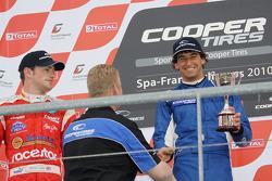National class podium: winner Menasheh Idafar,  second place James Cole