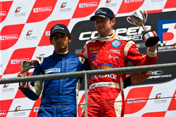 National class podium from left: Menasheh Idafar and James Cole