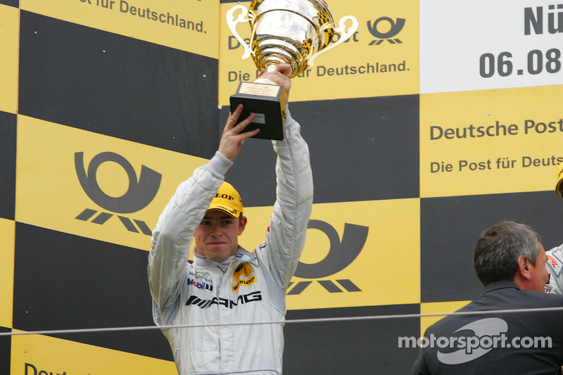 Podium: seconde place pour Paul di Resta, Team HWA AMG Mercedes C-Klasse