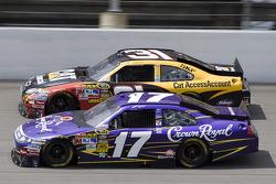 Matt Kenseth, Roush Fenway Racing Ford, Jeff Burton, Richard Childress Racing Chevrolet